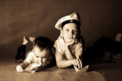 Детские мечты о Море дети, мальчишки, кораблики