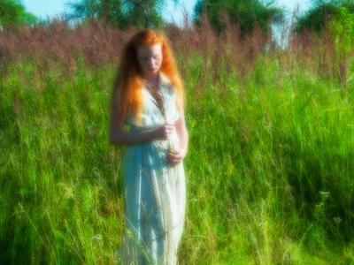 портрет для Маргариты. девушка травы лето