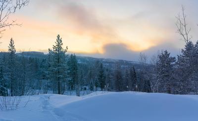 надвигается снежная туча