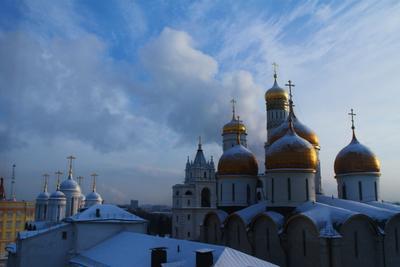 *** город купола золотые Москва центр Кремль ГКД Moscow Russia winter city