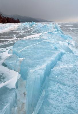 Байкальский нажим Байкал лед трещина