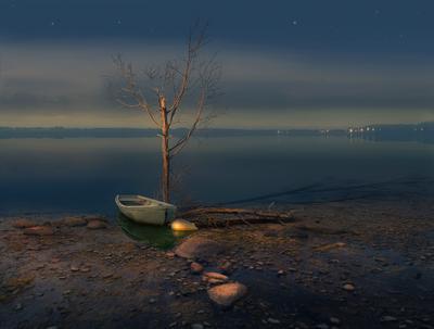 Тишина река лодка кострома