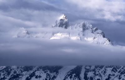 Лучше гор могут быть только горы. гора зима Grand Teton