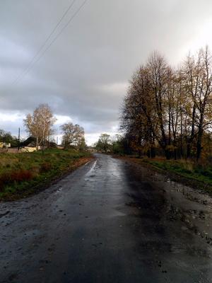 Деревенская дорога деревня, дорога