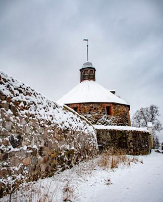 Корела Приозерск крепость Корела зима