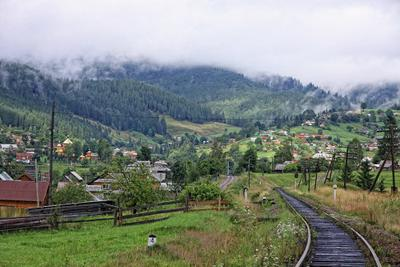 Ворохта, Карпаты ворохта, карпаты, горы, город, село, украина, туман,