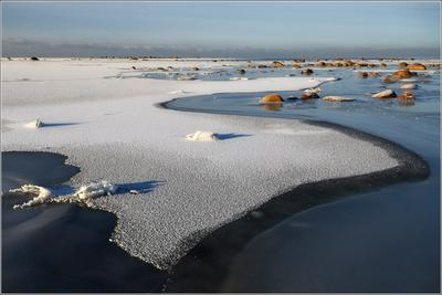 Зимняя Балтика Балтика Финский залив Ручьи