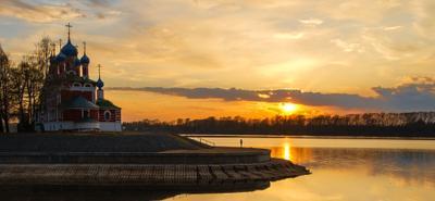Волга... Углич... Закат... Углич Золотое Кольцо закат Волга пейзаж
