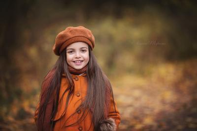 Осень пришла осень парк девочка листья