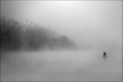 Ока. Туман.