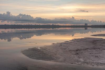 Утро на лимане море вода океан лиман мертвое пейзаж морской утро рассвет заря