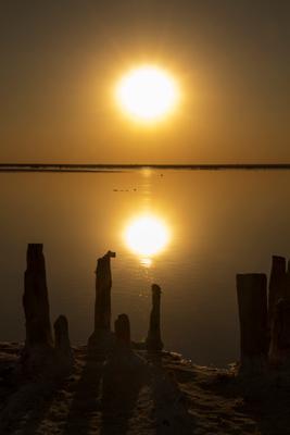 соленый закат/salty sunset закат вечер солнце отражение яркий красивый sunset evening sun reflection bright beautiful