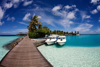 Sun Island 2 мальдивы индийский океан гидросамолет причал отель sun island