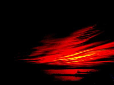 закат в Сочи красный закат  чёрное море