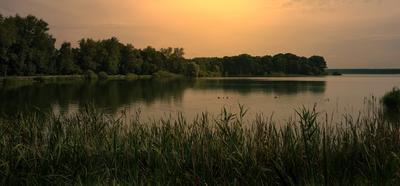 На озере...