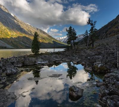 ~~~ Среднее Мультинское ~~~ Алтай озеро Мультинское Altai lake Multa vakomin