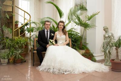 Александр и Екатерина свадьба невеста жених санкт-петербург спб загс оранжерея молодожены приморский апрель