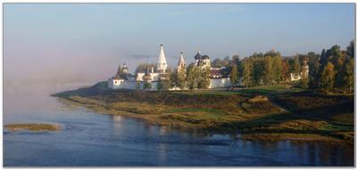 Утро туманное... Старица Старицкий Свято-Успенский монастырь сентябрь туман утро