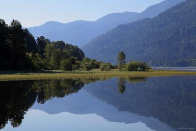 Зеркало Телецкого Телецкое озеро Алтай отражение