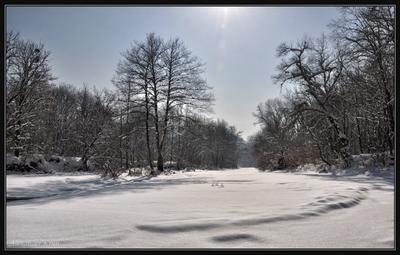 Когда так хочется прохлады... зима, река, снег