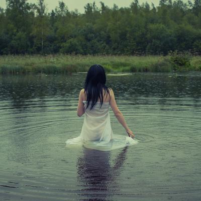Дождь дождь водоем река купание ткань
