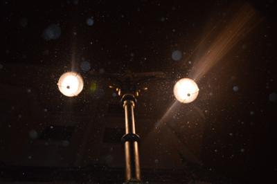 Фонарь Фонарь ночь снег темно