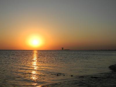 Евпатория. Закат на море. Море Евпатория Закат