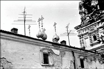 Крыша монастыря(Муром,1979г.)
