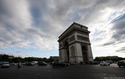 классика арка Париж Франция триумфальная_арка