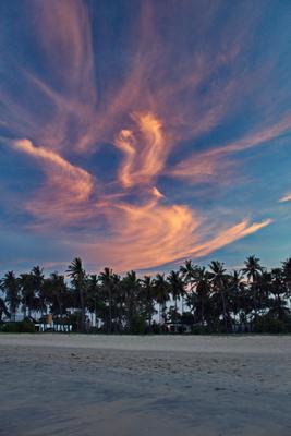Небо Шри-Ланки небо пальмы закат Шри-Ланка песок пляж