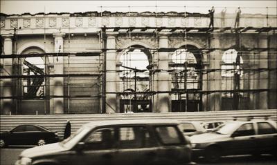 реконструкция здания Московского манежа после пожара