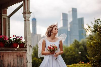 На стыке времен свадьба невеста Москва сити