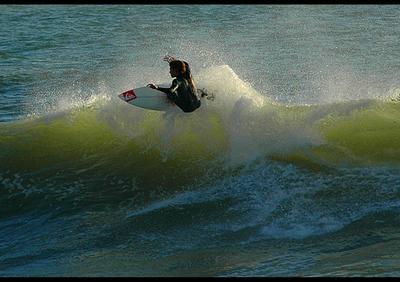 Surf near sunset! surf surfing