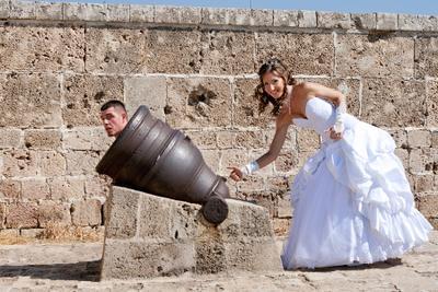 свадебный залп свадьба, пушка
