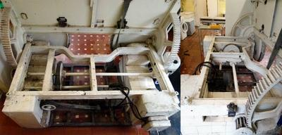 Операционный стол Жемайтиса и Юревичуса для крупных животных. Вид на электромеханику. Фото 2 ДаоТехно ДаоФото