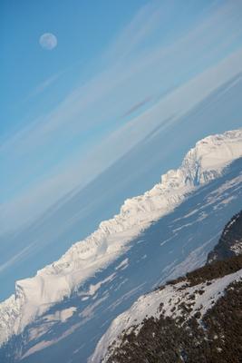Перелёт по маршруту Низкие Татры - Высокие Татры - Луна... горы Татры Словакия зима снег