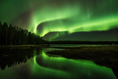 Про отражения. карелия северное сияние путешествия фотография