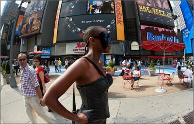 It's time to smile Times  Square  сша usa