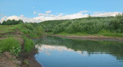 Устье речки Яубаза. Здесь она впадает в Белую.