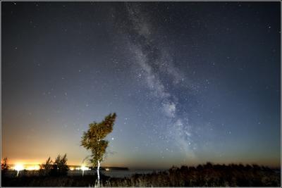 млечное небо#2 млечный путь остров Хреновый Обское море Новосибирск Андрей Стыврин