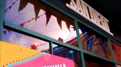 Масленичная ярмарка блины павильон флаги цвета фотограф фотография репортаж ярмарка масленица