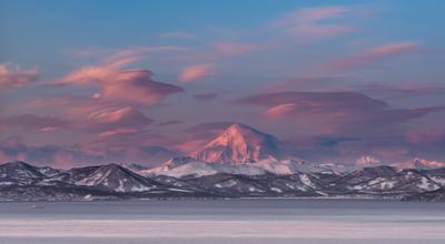 С утра пораньше Камчатка вулкан рассвет
