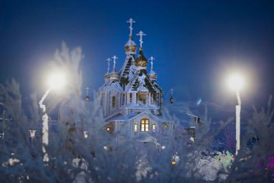 Изморозь февраля Анадырь Храм Святой Живоначальной Троицы Чукотка