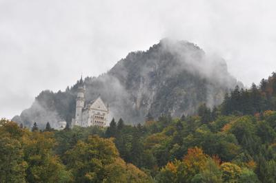 Осенью в Альпах... Осень Альпы Замок Нойшванштайн