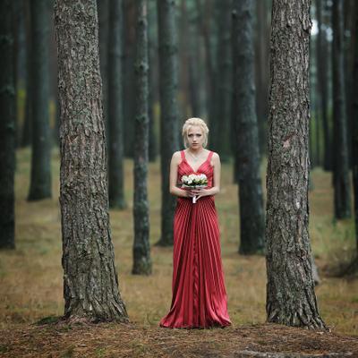 портрет в лесу
