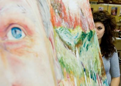 Вилтширские портреты 3. портрет, девушка, глаза, картина, художник