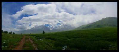 Дорога в горный рай горы Алтай дорога панорама