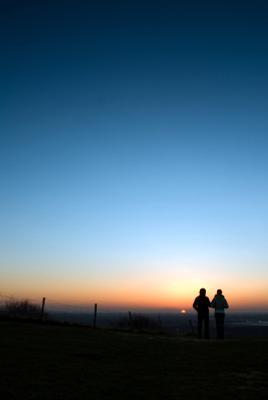 Куда уходит солнце Вечер, закат, силуэт