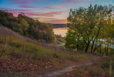 Вчера была Осень... осень пейзаж тульская область ррека Ока закат вечер