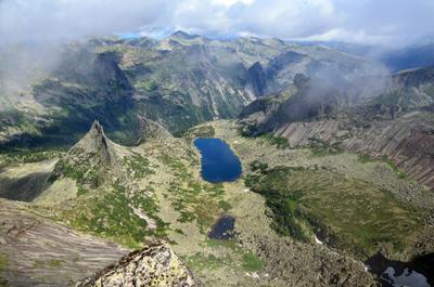 С птичьего полета сибирь саяны ергаки озеро горы